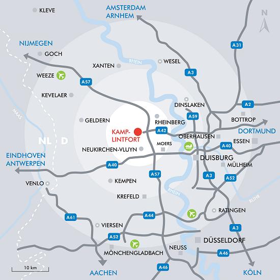 autobahn nrw karte Kamp Lintfort | Vatertagskirmes   Anreise autobahn nrw karte